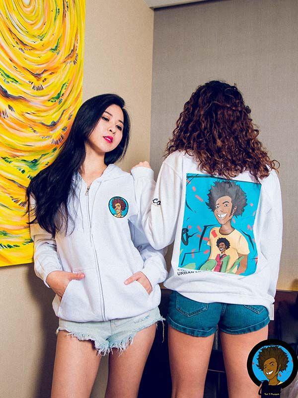 Women white hoodie